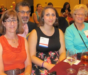 Leslie, Alan and Anna Schecterson and Clara Cartrette at the NFPW awards luncheon Sept.  6.