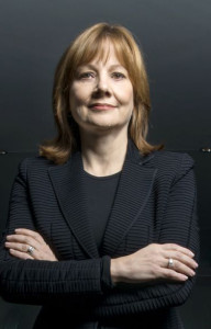 Mary Barra, Chief Executive Officer of General Motors, at GM headquarters in Detroit, MI, January 2014. Barra is the first female to head a major global auto company.